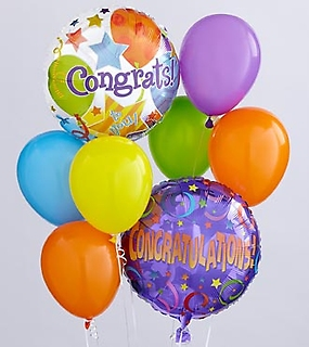 The Congratulations Balloon Bunch