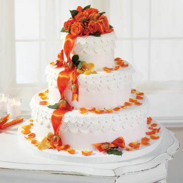 Orange Delight Cake Flowers