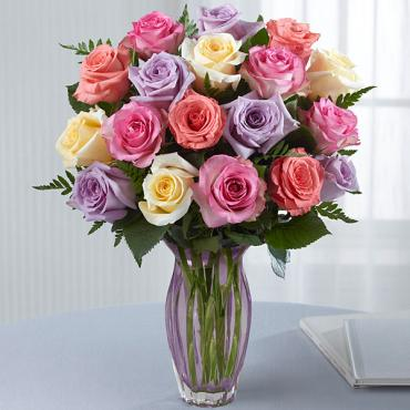 The Mother's Day Mixed Rose Bouquet